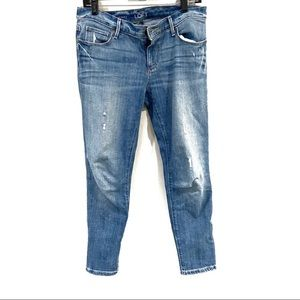 LOFT Relaxed Skinny High Waisted Medium Wash Jeans